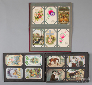 Two early postcard albums