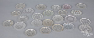 Collection of lacy glass cup plates