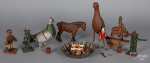 Carved wooden grouse, early 20th c.