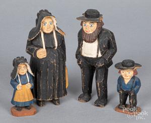 Jailhouse carvers Amish family