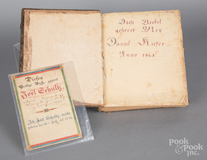 Early Bible with fraktur