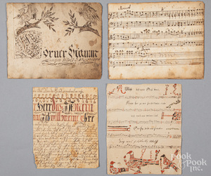 Partial fraktur songbook