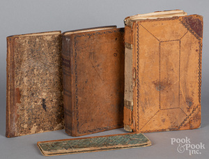 Four hand written country store ledgers, 19th c.