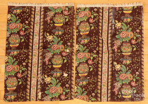 Pair of chintz pillow shams, early 19th c.