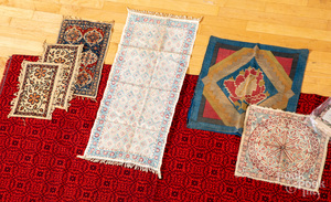 Group of ethnographic textiles.