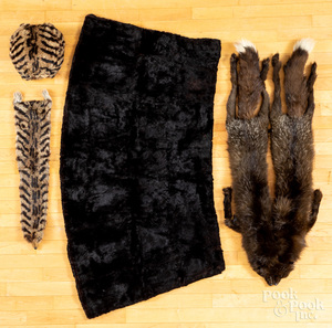Fur accessories, to include muff, wrap, etc.