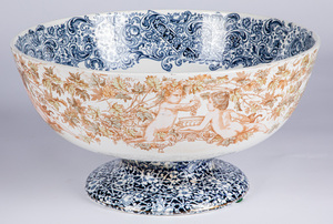 Large Doulton Lambethware punch bowl
