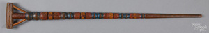 Turned and painted cane, early 20th c.
