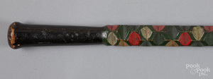 Carved and painted cane, ca. 1900