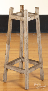 Painted pine cane rack, ca. 1900