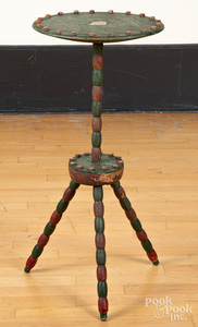 Folk art painted stand, ca. 1900