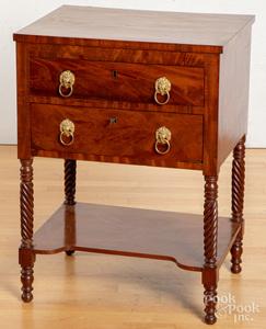 Pennsylvania Sheraton mahogany work stand