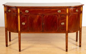 Federal style inlaid mahogany sideboard