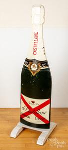 Castellane champagne bottle advertsing display