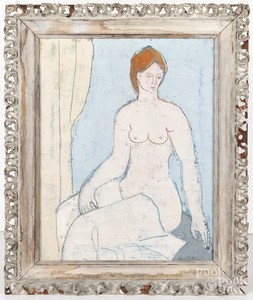 Nic Mayne oil on canvas female nude