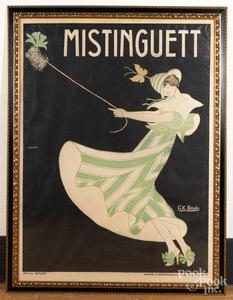 Benda lithograph poster, Mistinguett