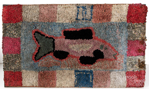 Hooked rug, early 20th c.