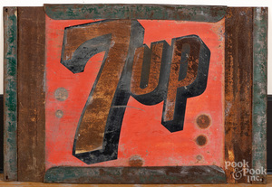 Painted tin 7UP trade sign