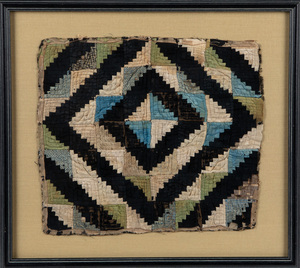 Silk doll quilt, late 19th c., etc.
