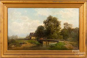 Carl Phillip Weber oil on canvas landscape