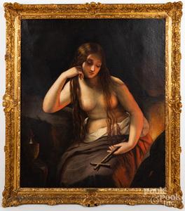 Emma Ciardi oil on canvas portrait