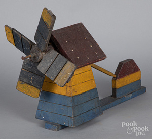 Painted windmill whirligig, early 20th c.