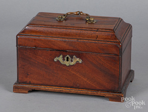 George III mahogany tea caddy, late 18th c.