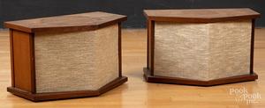 Pair of vintage Bose model 901 walnut speakers