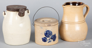 Three pieces of stoneware