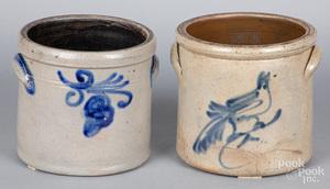 Two stoneware crocks, 19th c.