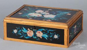 Foilwork dresser box, late 19th c.