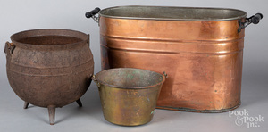 Copper wash boiler, etc.