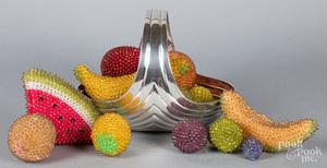 Beadwork fruit basket