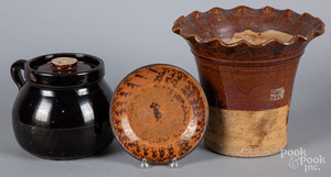 Earthenware flowerpot, etc.