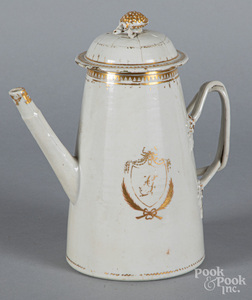 Chinese export porcelain light house coffee pot