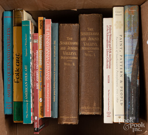 Reference books on American antiques and folk art