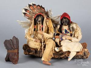Native American figural group