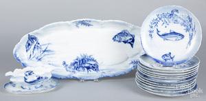 German porcelain fish service