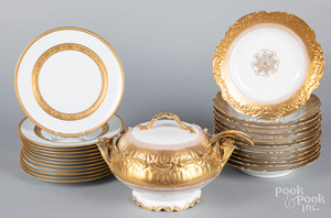 Twelve porcelain plates, retailed by Tiffany & Co
