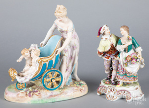 Two English porcelain figural groups