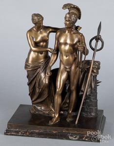 Bronze sculpture of Venus and Mars