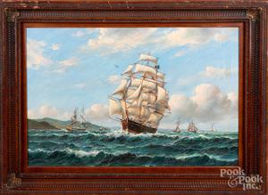 Robert Sanders, oil on canvas seascape