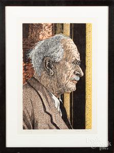 Dan Miller, two woodblock prints