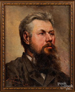 Oil on board portrait of a gentleman