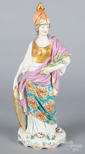 Porcelain figure of Athena with Chelsea