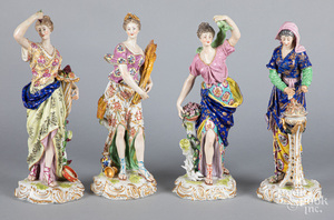 Four Derby porcelain figures of the seasons