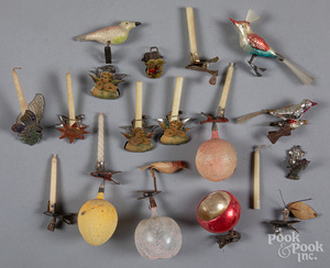 Group of clip-on Christmas ornaments