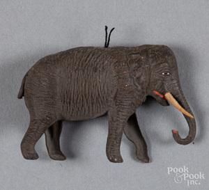 Dresden elephant Christmas ornament