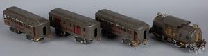 Four-piece Lionel passenger train set