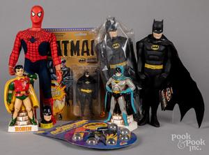 Group of Batman toys